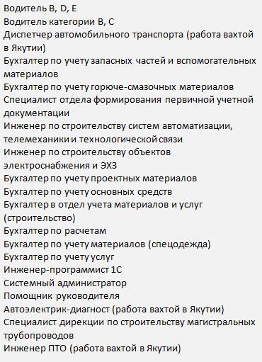 сила сибири водители вахта СГК-Трубопроводстрой-5