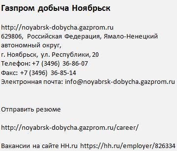 Газпром добыча Ноябрьск 2017 Сила Сибири вахта вакансии работа