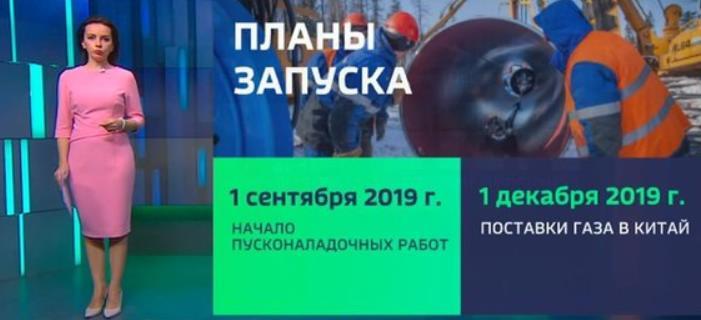 Пуск газа в Сила Сибири