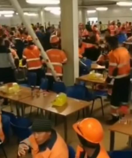 Драка рабочих на Амурском ГПЗ
