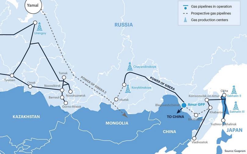 Сила Сибири в Газпроме работа